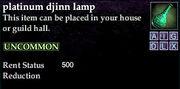 Platinum djinn lamp