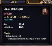 Cloak of the Spire