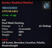 Sucker Studded Hatchet