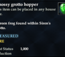 A mossy grotto hopper
