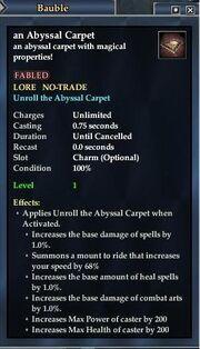 An Abyssal Carpet