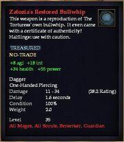 Zatozia's Restored Bullwhip