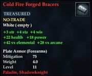 Cold Fire Forged Bracers