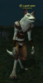 A gnoll raider
