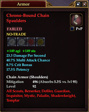 Chrono-Bound Chain Spaulders