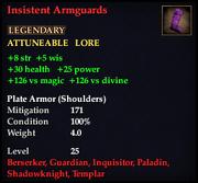 Insistent Armguards