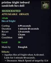 Fright imbued sandcloth hex doll