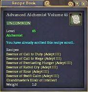 Advanced Alchemist Volume 65