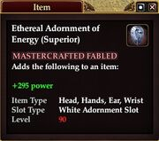 Ethereal Adornment of Energy (Superior)