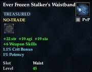 Ever Frozen Stalker's Waistband