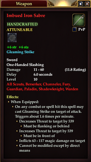 Imbued Iron Sabre