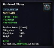Hardened Gloves
