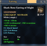 Shark Bone Earring of Might