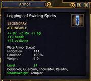 Leggings of Swirling Spirits