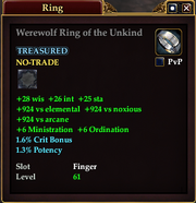 Werewolf Ring of the Unkind