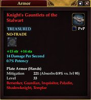 Knight's Gauntlets of the Stalwart