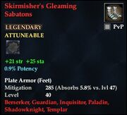 Skirmisher's Gleaming Sabatons