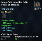 Magus's Ensorcelled Satin Shoes of Blasting