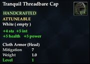 Tranquil Threadbare Cap