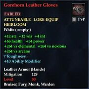 Gorehorn Leather Gloves