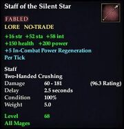 Staff of the Silent Star