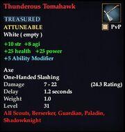 Thunderous Tomahawk
