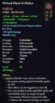Wicked Wand of Malice