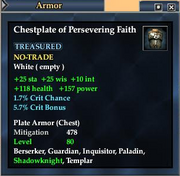 Chestplate of Persevering Faith