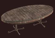 A pristine oval alder table (Visible)