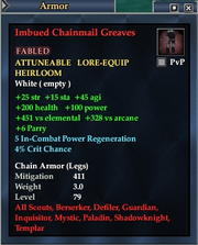 Imbued Chainmail Greaves