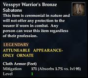 Vesspyr Warrior's Bronze Sabatons
