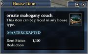 Ornate mahogany couch
