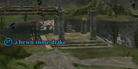 A hewn stone drake
