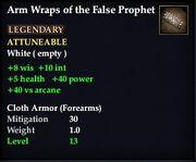 Arm Wraps of the False Prophet