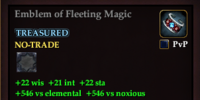 Emblem of Fleeting Magic