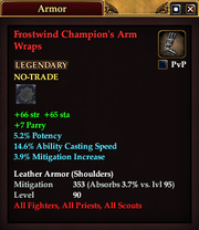 Frostwind Champion's Arm Wraps