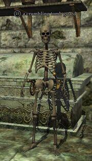 A crumbling tomb guard
