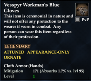 Vesspyr Workman's Blue Gloves