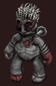 Voodoo plushie placed
