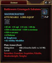 Battleworn Gruengach Sabatons