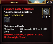 Polished parade gauntlets