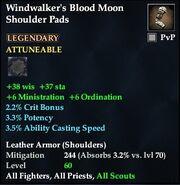 Windwalker's Blood Moon Shoulder Pads