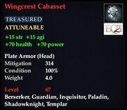 Wingcrest Cabasset