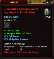 Illuminate's Crashing Waves Leg Wraps of Overbearing
