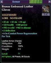Bronze Embossed Leather Gloves