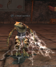 A ritual sacrifice