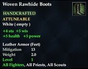 Woven Rawhide Boots