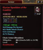 Elysian Spaulders of the Gambler