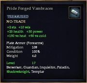 Pride Forged Vambraces