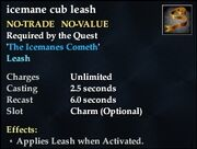 Icemane cub leash